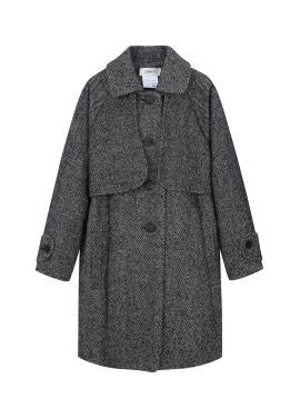 [추가30%] ★ Herringbone Stand Collar Coat