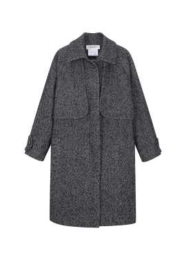 ★ Herringbone Stand Collar Coat