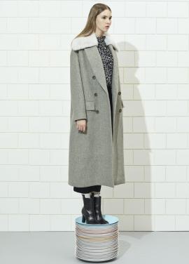 Mono Grey Fur Coat