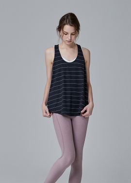[LOWEIGHT/WINTER EVENT/10%SALE][TANK] LT-145 BLACK W STRIPE