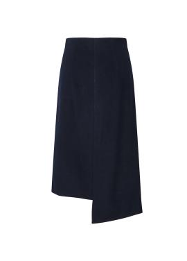 [단독55%할인] Wool Blend Unbalance Long Skirt
