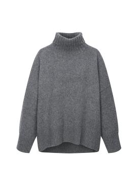 Cashmere Blend Loose-Fit Pola Pullover