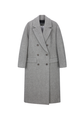 Mini Check Long Coat