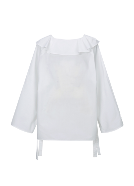 ◆ Cotton Blended Frill Blouse[주문폭주/리오더]