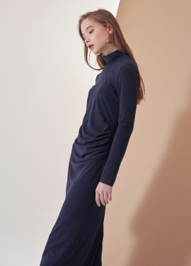 [VEMVER/17WINTER/10%+5%COUPON] SHIRRING POINT LONG ONEPIECE_NA
