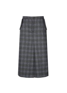 Pocket Detail H-Line Long Skirt