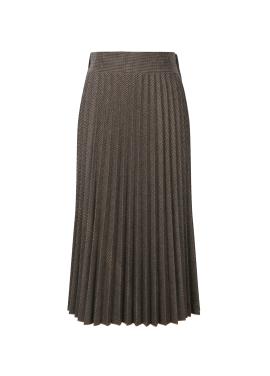 ★ Wool Blend Check Pleats Long Skirt [예약판매/12월18일 입고예정]