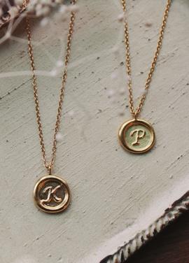 [IRIS/골든이어세일/10%] 'sealring' initial necklace
