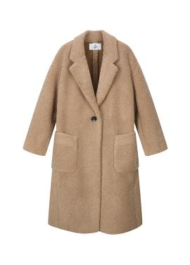 ★ Single Button Boucle Long Coat [예약판매/12월22일 입고예정]