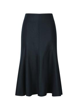 Wool Peplum Skirt