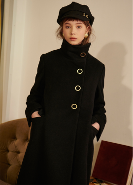 [SALON DE YOHN/10%+10%쿠폰]High Neck Wool Coat