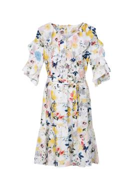 Flower Pattern Ruffle Dress [주문폭주]