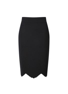 Cutting Design Knit Skirt