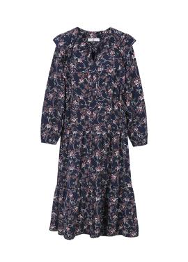★ Flower String Detail Long Dress