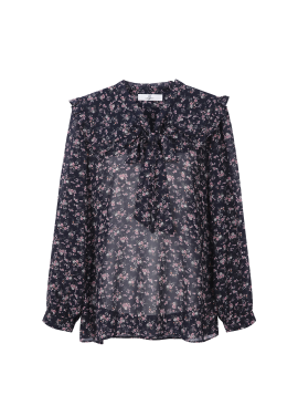 Flower Round Collar Blouse