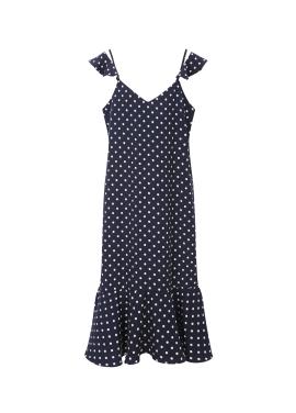 [30%] Dot Frill Detail Slip Dress