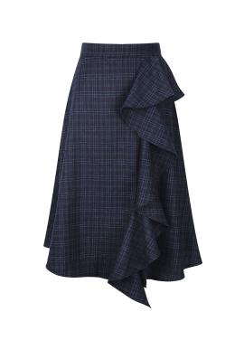 ★ Front Frill Detail A-Line Skirt