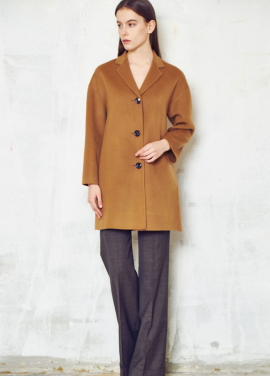 [THELOOM]HANDMADE TREE BUTTON BASIC COAT[CAMEL]