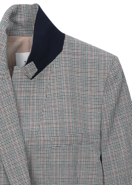 ◆ Mix Checked Single Button Jacket [주문폭주]