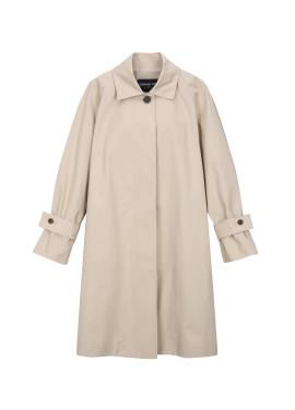 Cotton Blend Single Button Trench Coat