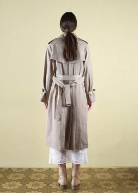 [CLUT STUDIO] 0 1 pleats trench coat