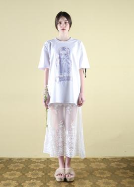 [CLUT STUDIO] 0 2 flower girl t-shirt - white
