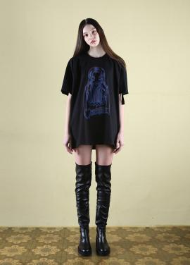[CLUT STUDIO] 0 2 flower girl t-shirt - black