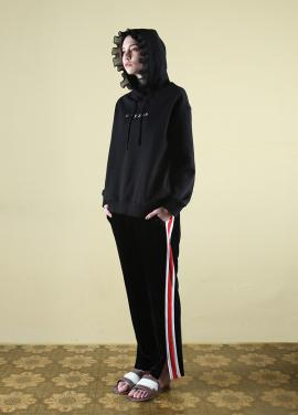 [CLUT STUDIO] 0 4 studio ruffle hoodie - black