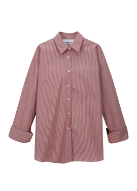 Pin Stripe Wide Cuffs Shirt