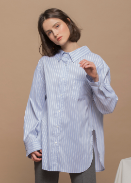[URAGO/18SS신상 5%쿠폰] 박시 스트라이프 셔츠