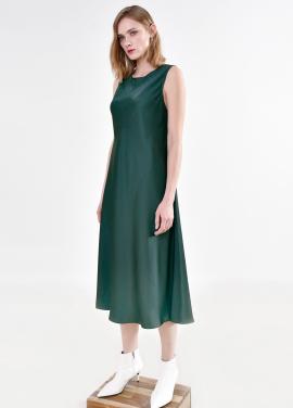 [PINBLACK/5%+5%SALE] satin fluid Dress GREEN