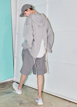 [NOHANT] REAR-OPENING PROCESS HOODIE GRAY