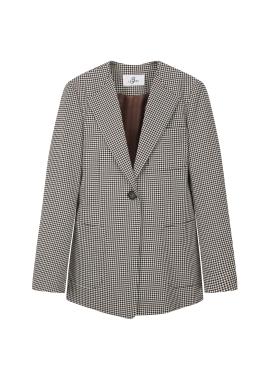[특가] Single Button Check Jacket