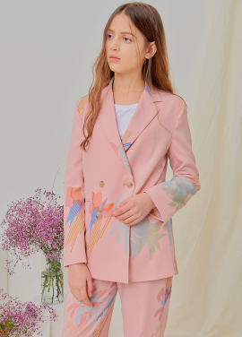 [NUPARCC/18SS 신상5%+5%쿠폰] [Order-Made] Painted Floral Jacket