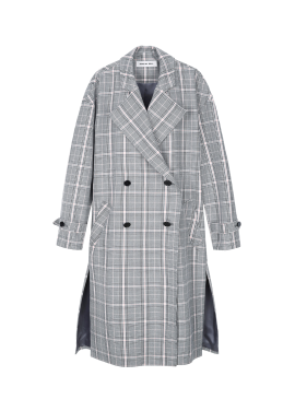 [BORAM'S PICK!] Check Oversized Long Trench Coat