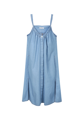 [BORAM'S PICK!] Denim Shirring Overall Dress