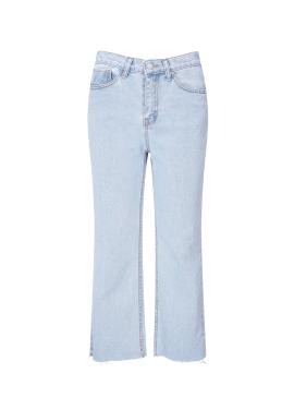 Hemline Cutting Ice Jeans