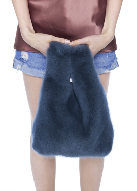 [THE SUIN/18SS 20%+5% 쿠폰] REAL MINK FUR TOTE BAG. BLUE