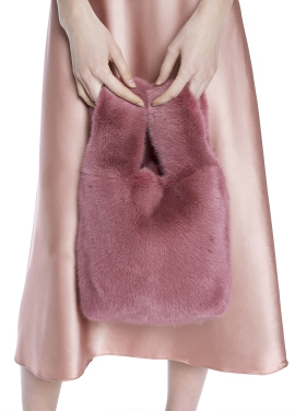 [THE SUIN/18SS 20%+5% 쿠폰] REAL MINK FUR TOTE BAG.INDIAN PINK