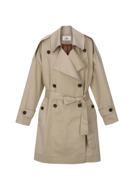 Cotton Half Trench Coat