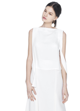 [THE SUIN/18SS 20%+5% 쿠폰] SHOULDER STRAP DETAILED SLEEVELESS TOP. IVORY