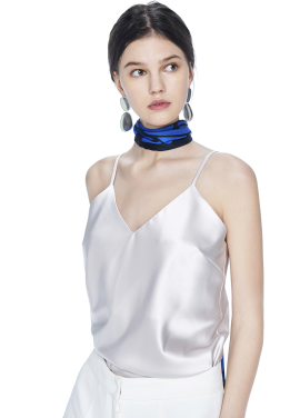 [THE SUIN/18SS 20%+5% 쿠폰] SATIN SLIP CAMISOLE TOP. SILVER