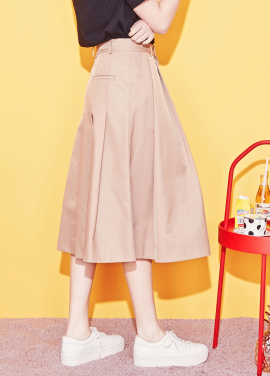 [BLANK] MAXI FLARED SKIRT-BE