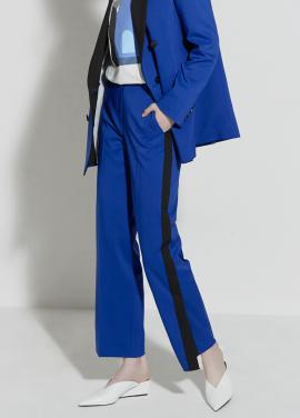 [CLUE DE CLARE/18SS 5%+5% 쿠폰] tuxedo line slit pants Blue