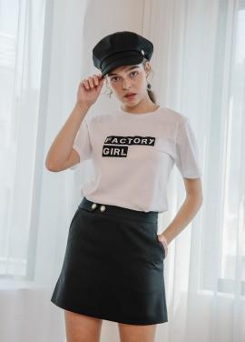 [SALON DE YOHN/18SS 5%+5%쿠폰] Black Mini Skirt