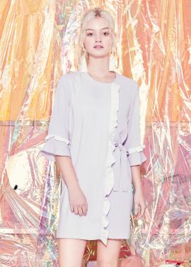 [BLANK] LAYERED FRILL DRESS-BK