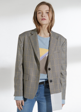 [CLUE DE CLARE/18SS 5%+5% 쿠폰] oversized shirts detail jacket Check