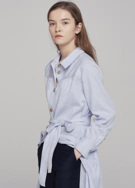 [18SS 5%할인쿠폰/GRE1SCALE]STRIPE COTTON SHIRT DRESS