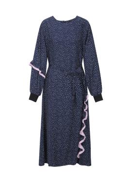 Dot Frill Detail Dress