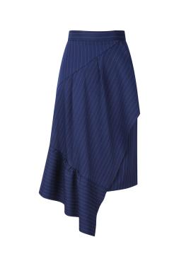 [30%] Frill Wrap Midi Skirt